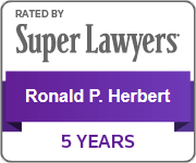 Rated By Super Lawyers - Ronald P. Herbert - 5 years